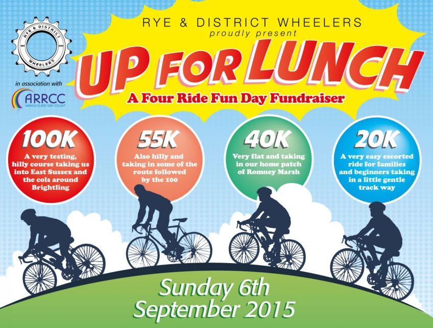 "Rye Wheelers ""Up for Lunch Open Ride"", 06-09-2015."
