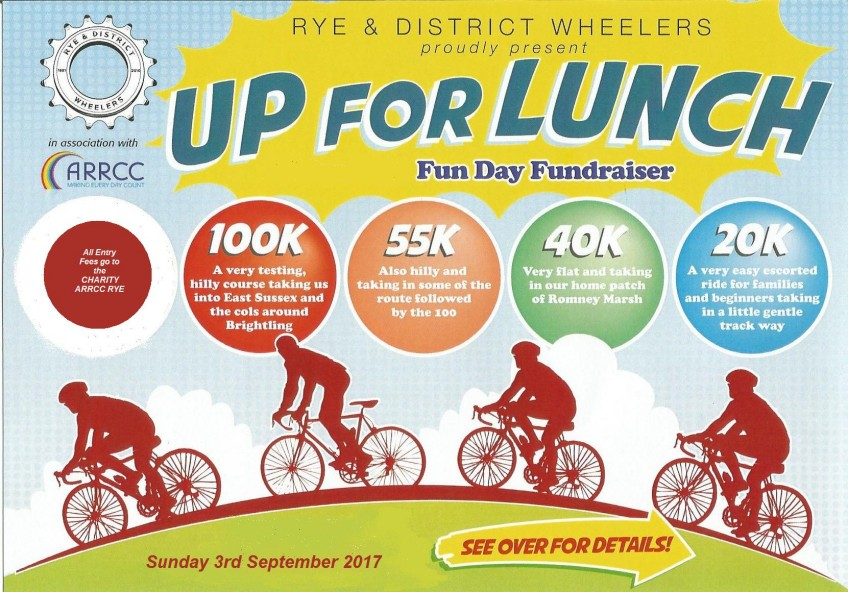 "Rye Wheelers ""Up for Lunch"" Charity Cycle Ride, 03-09-2017"