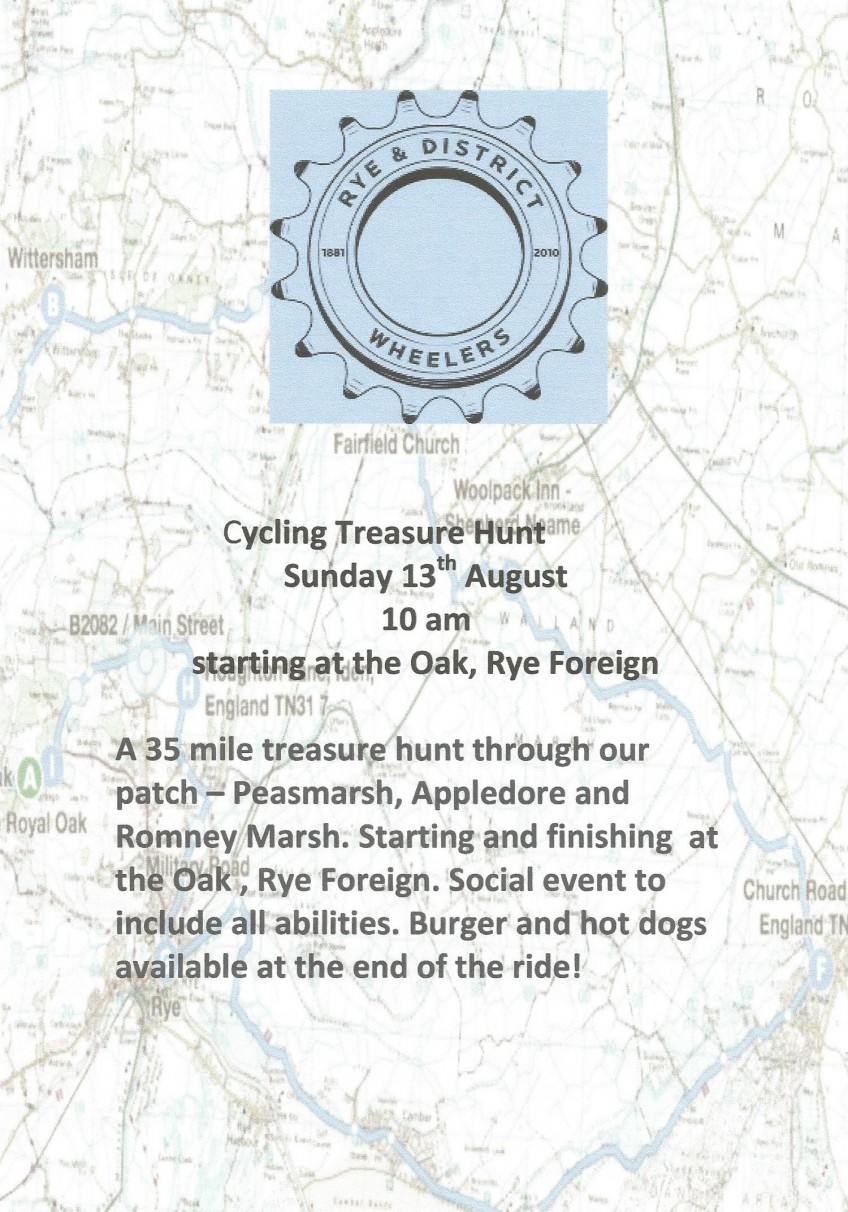 Rye Wheelers Cycling Treasure Hunt, 13-08-2017.