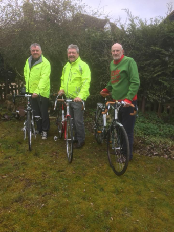 3 Old Guys + 1 cycle from the 'Wipers' Pub in Rye to Ypres in aid of Prostate Cancer Research
