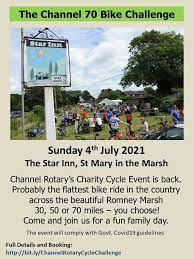 Channel Rotary Charity Cycle Ride – Sunday 4th July 2021
